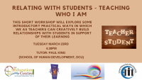 21TRA228 Relating with students - teaching who I am""